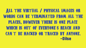 All the virtual / physical images or words can be terminated from all the places, however there is