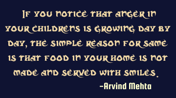 """If you notice that anger in your childrens is growing day by day, the simple reason for same is"